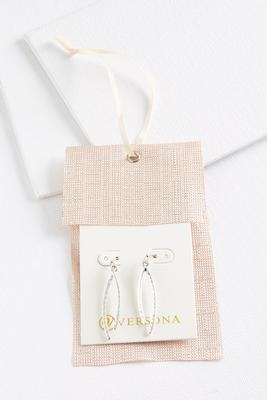 curved bar earrings
