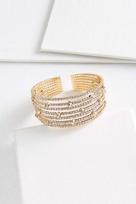 multi crystal cuff bracelet