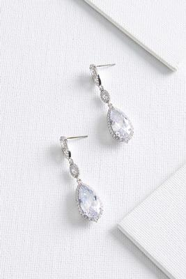 glitz tear earrings