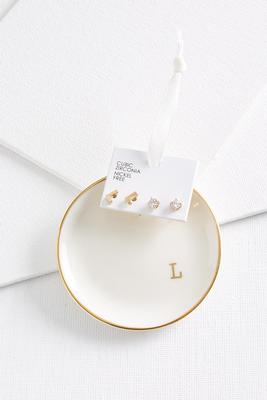 l initial earring set