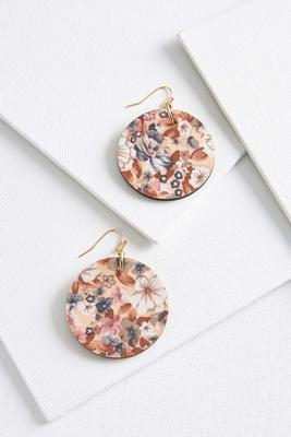 floral fabric earrings