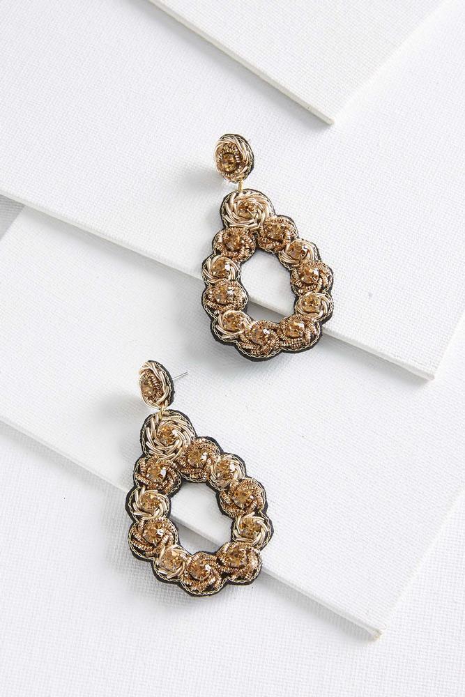 Embellished Tear Earrings