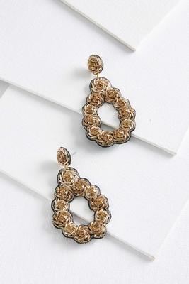 embellished tear earrings