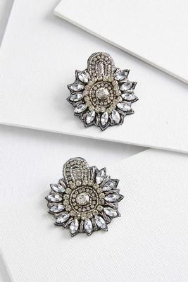 statement bling earrings