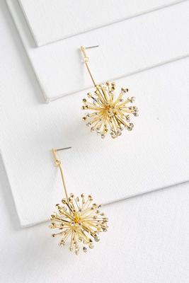 glimmering sunburst earrings