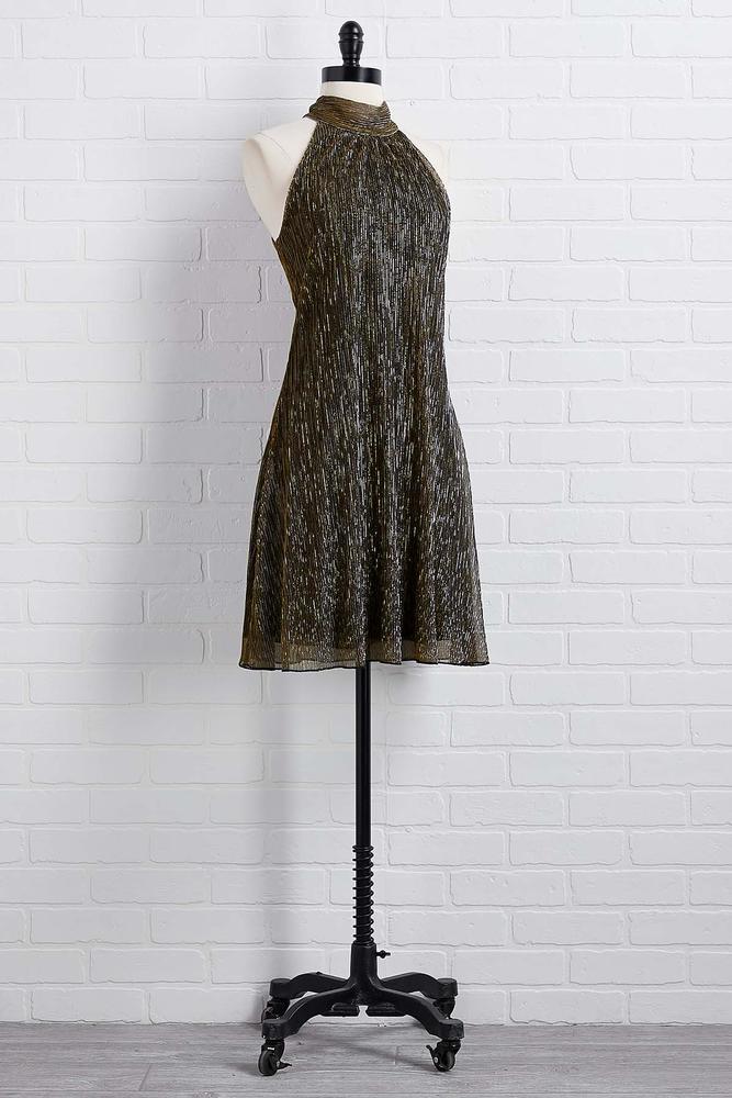 All That Glitters Halter Dress