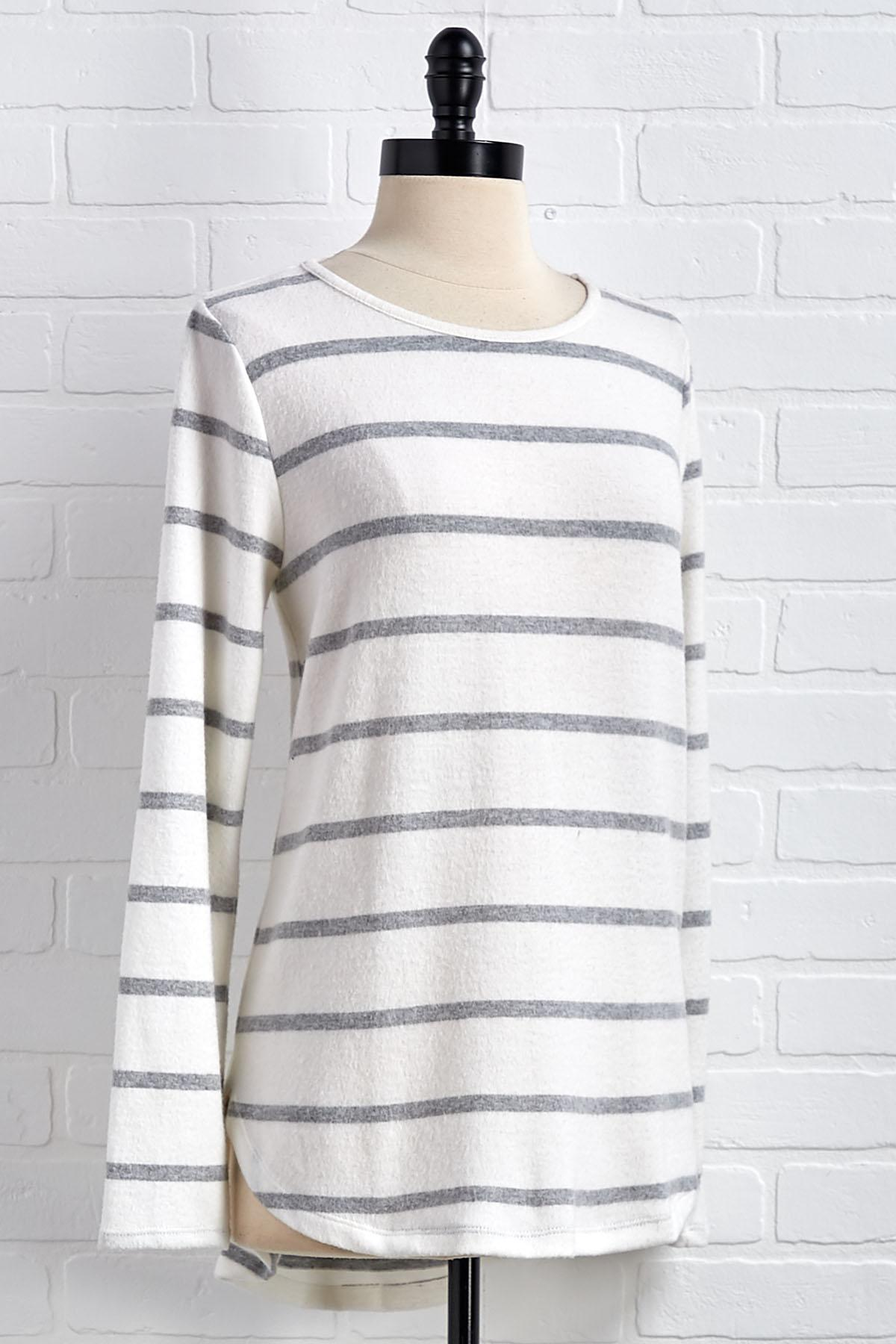 Suede And Stripes Top