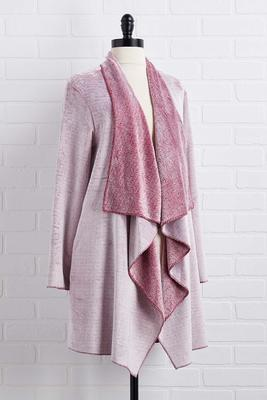 lounge around fleece cardigan