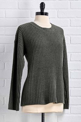 evergreen chenille sweater