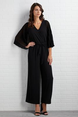 pleats to meet ya jumpsuit