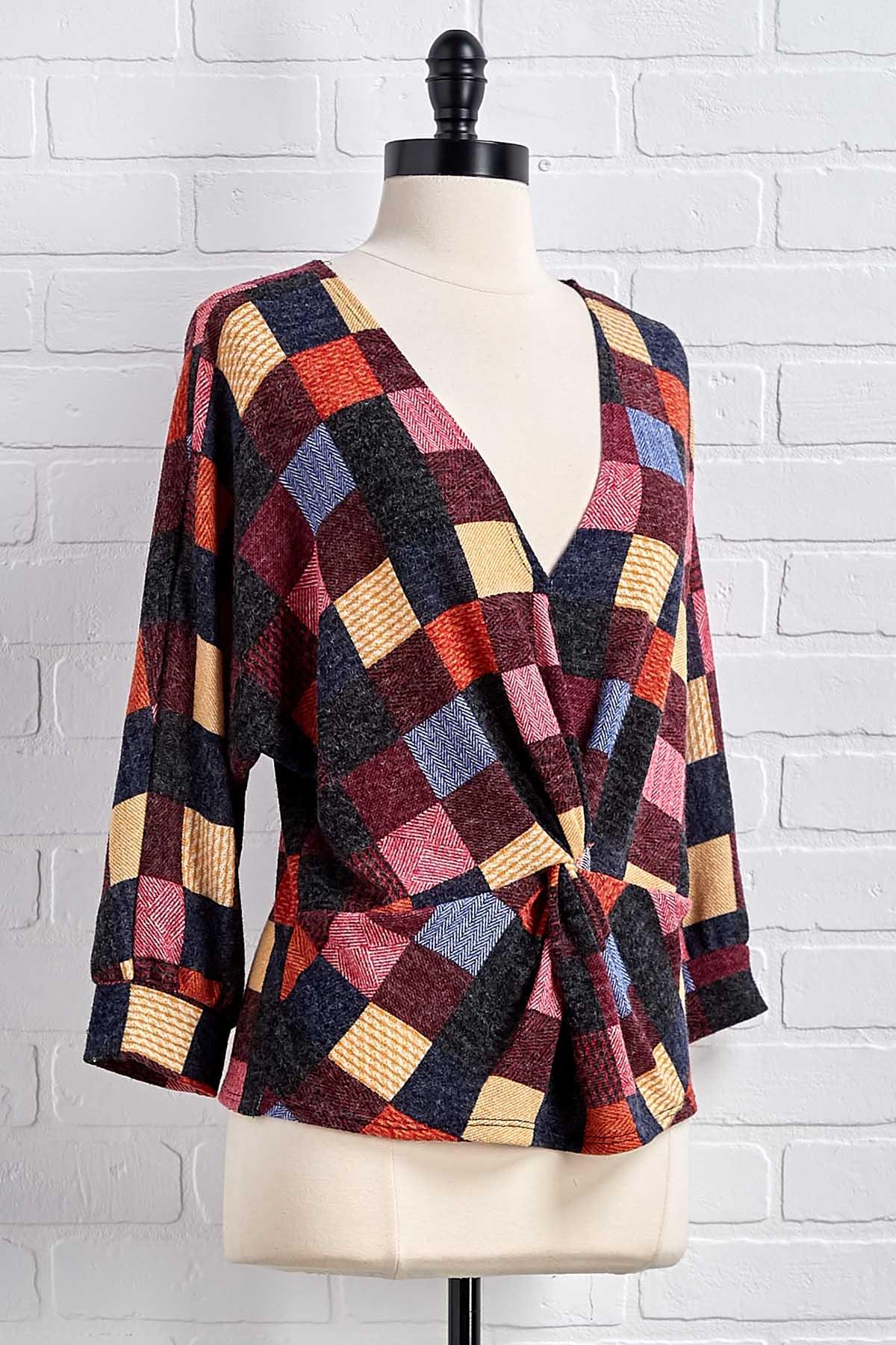 Reality Checkered Top