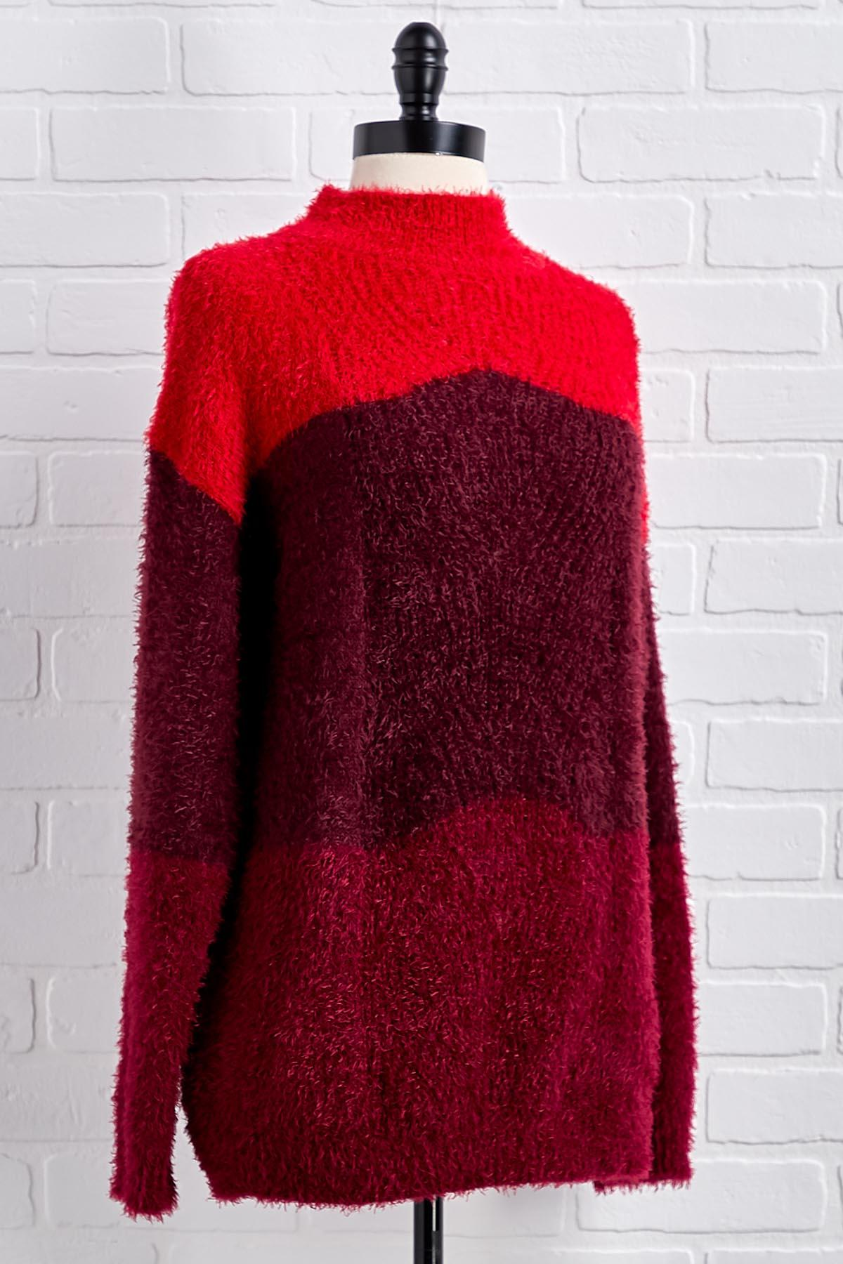 Shades Of Red Sweater