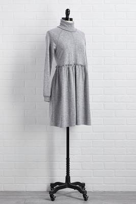 don`t mock neck me dress