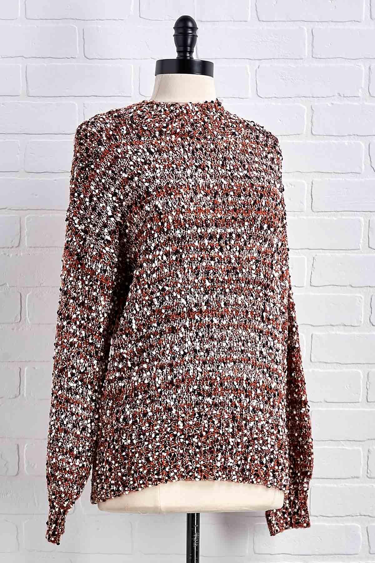 Remaining Neutral Textured Sweater