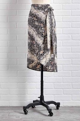 sssilky snakeskin midi skirt