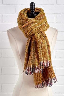 mustard confetti scarf