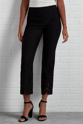 hey crochet ankle pants