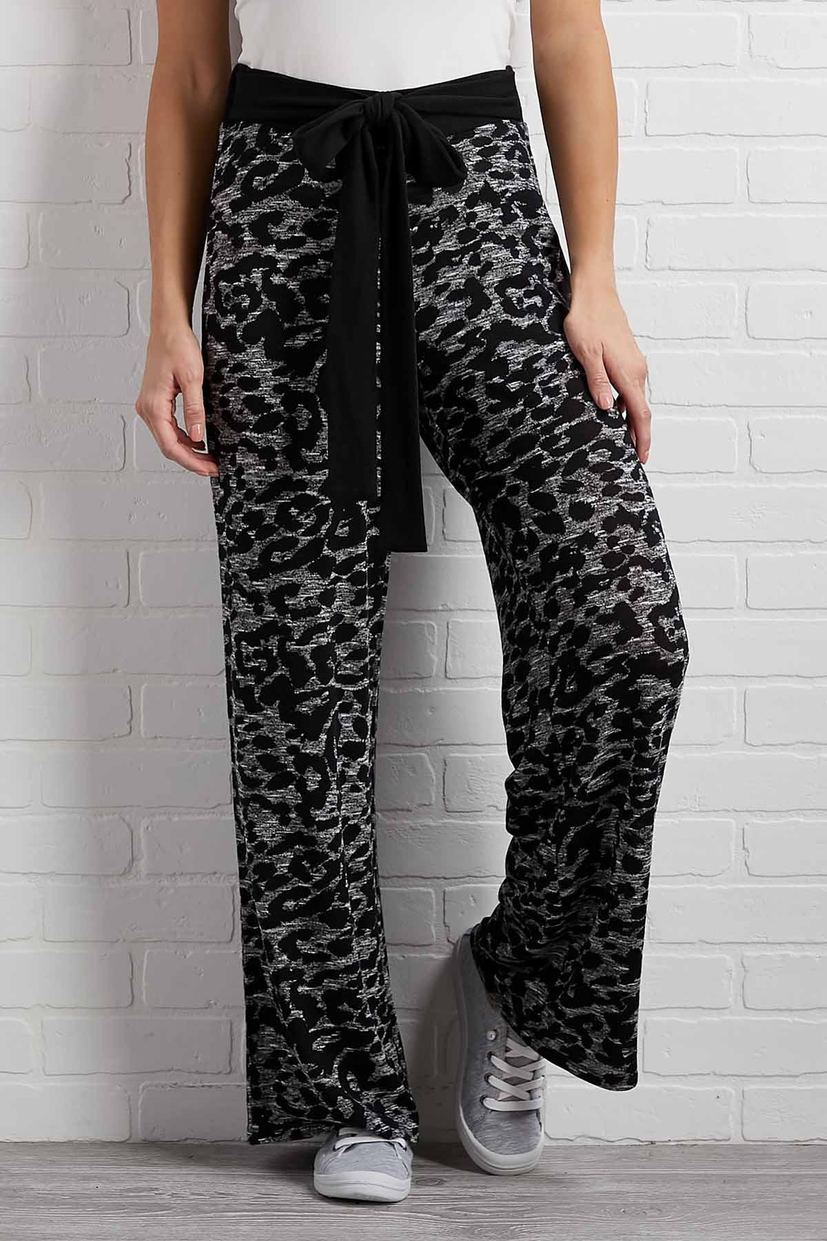 Gray Skies Leopard Pants