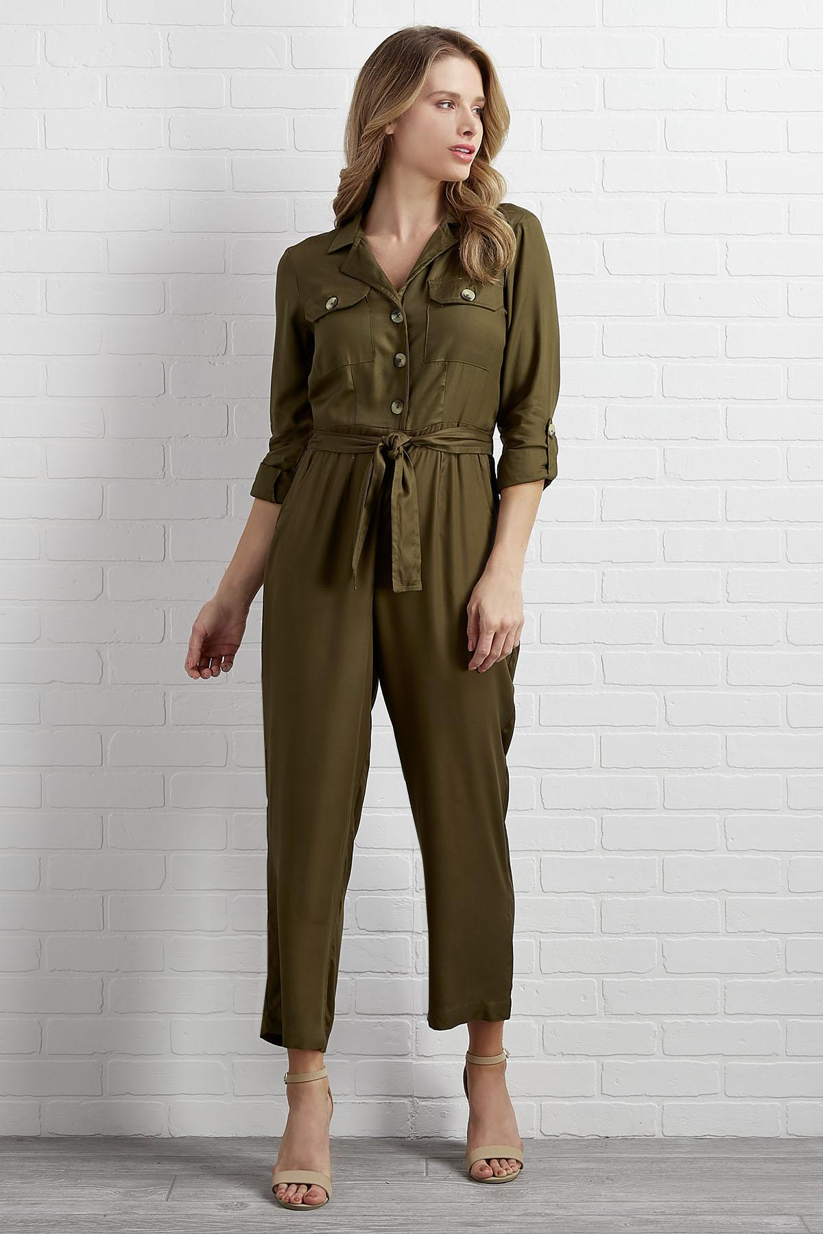 Down- To- Earth Utility Jumpsuit
