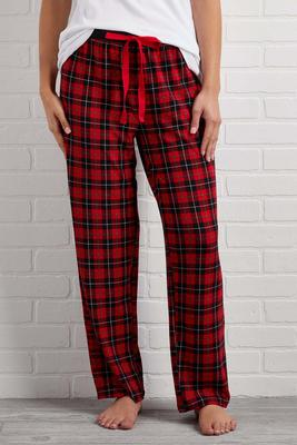 festive plaid lounge pants