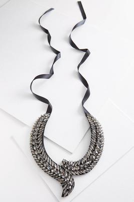 midnight stone bib necklace