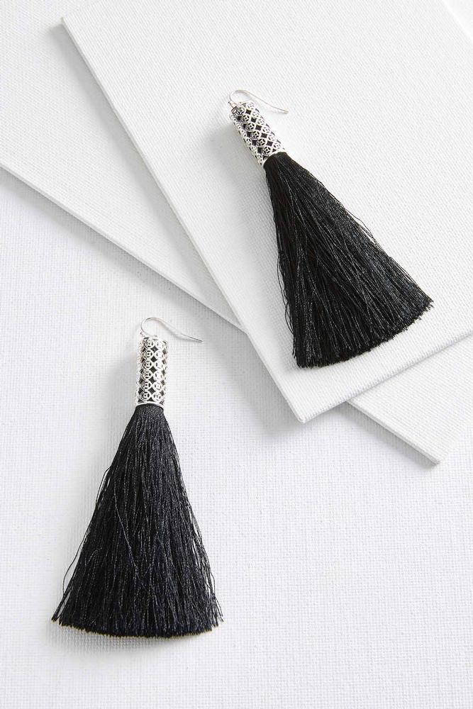 Large Statement Tassel Earrings