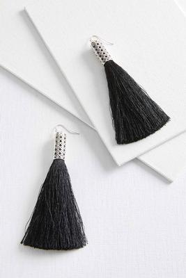 large statement tassel earrings