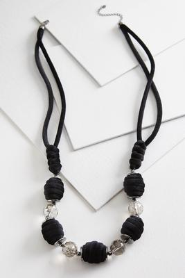velvet crystal necklace