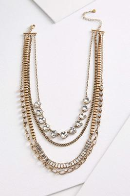 layered antique gold necklace