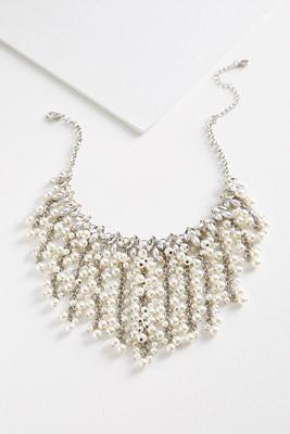 waterfall pearl bib necklace