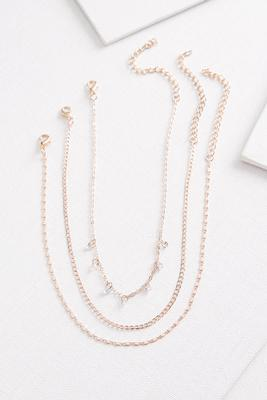 rose gold choker set