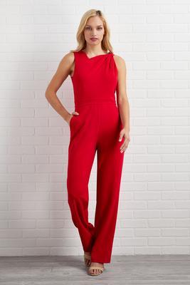 solid crepe jumpsuit