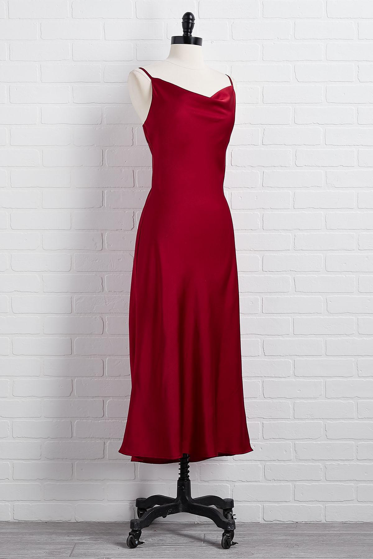 Frankly Scarlet Slip Dress