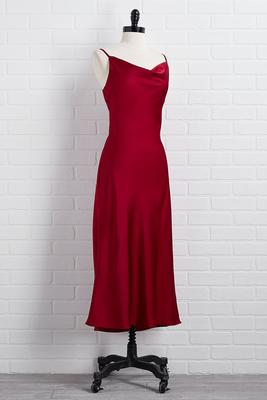 frankly scarlet slip dress