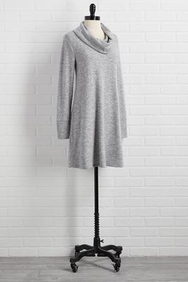 darling draped shift dress