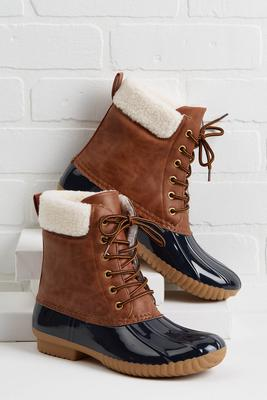 sherpa duck boots