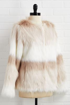 ombre fur jacket