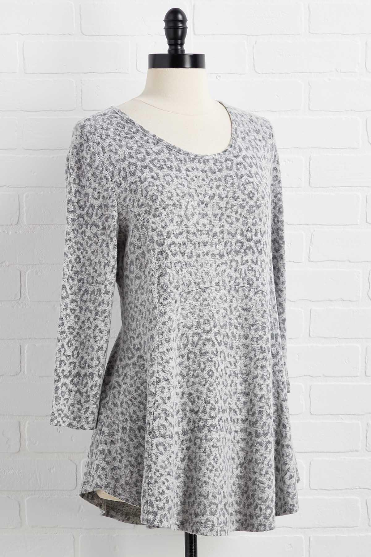 Snow Leopard Tunic Top