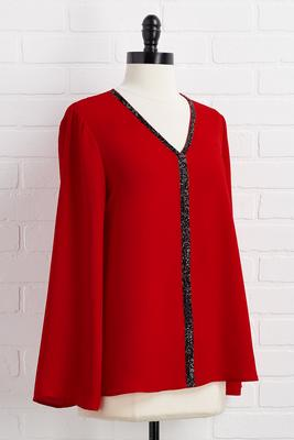 red-y for the holidays top