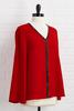 Red- Y For The Holidays Top
