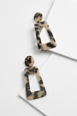 animal lucite earrings