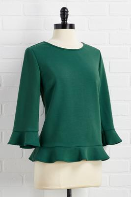 peplum rally top