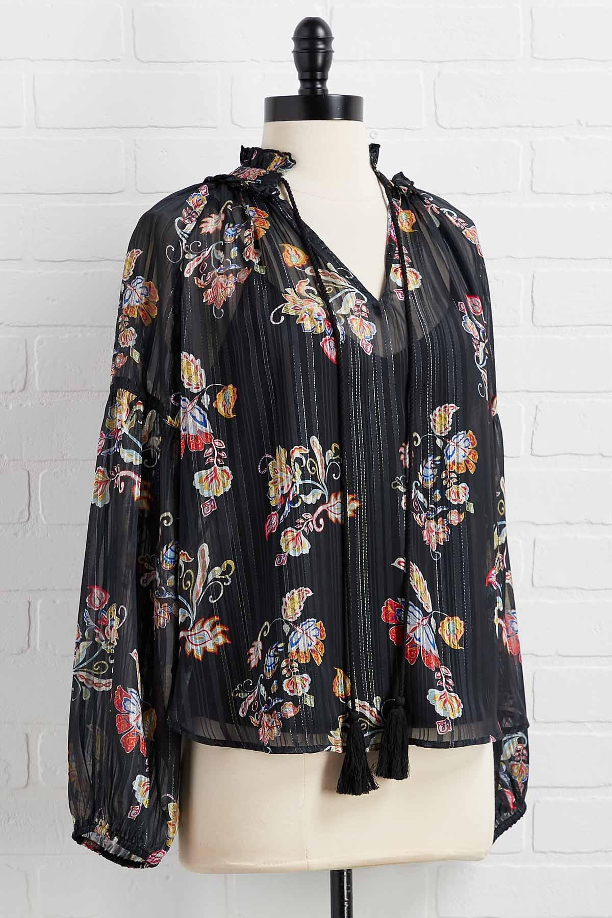 Sew Boho Floral Top