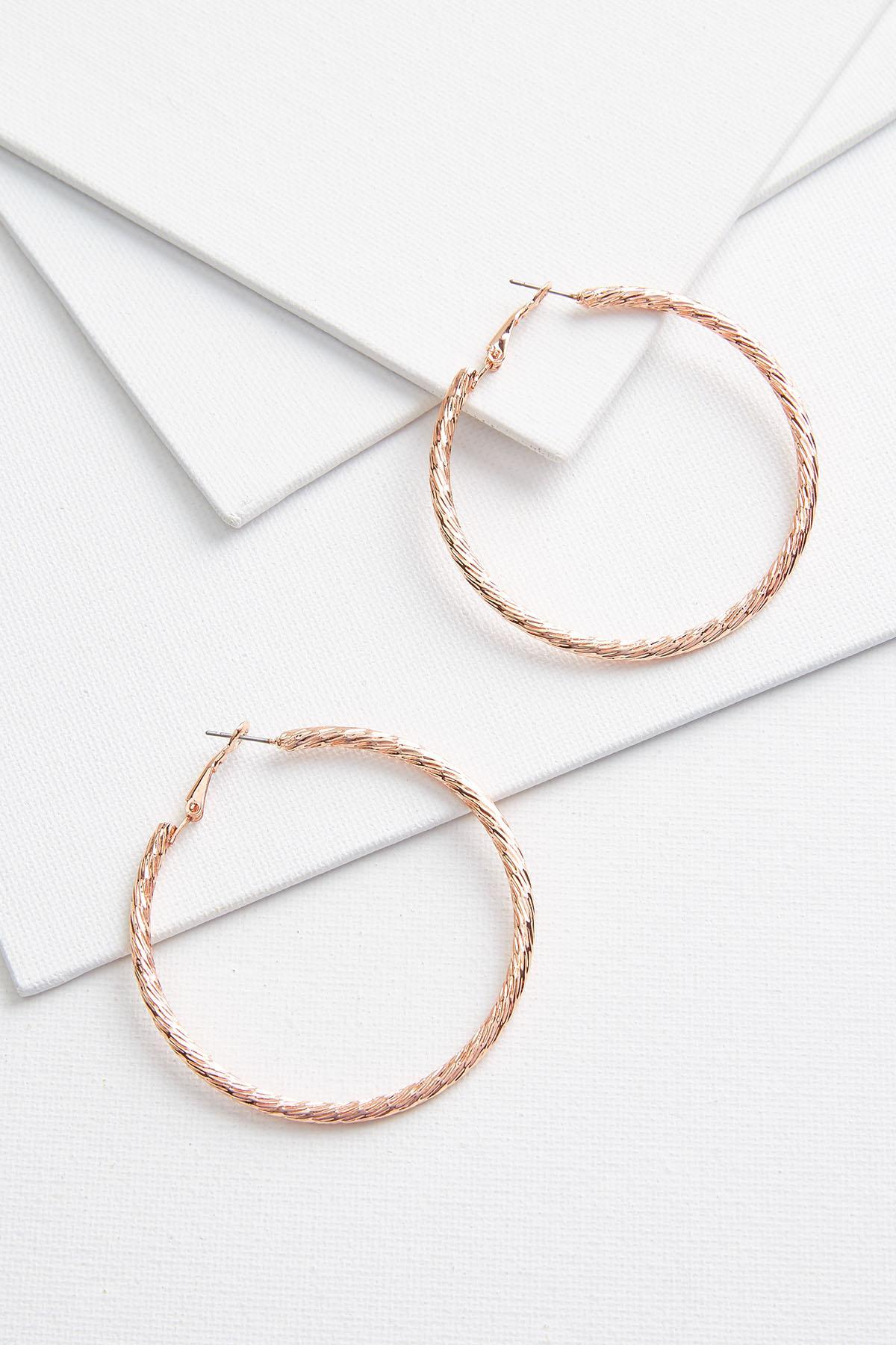 Textured Tube Hoop Earrings