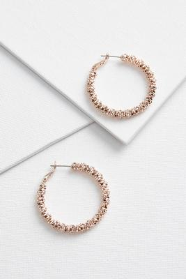 natural textured hoop earrings