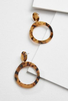 double hoop tort earrings