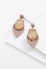 Wooden Geo Earrings