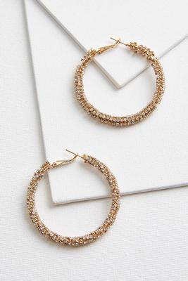 blingy hoop earrings