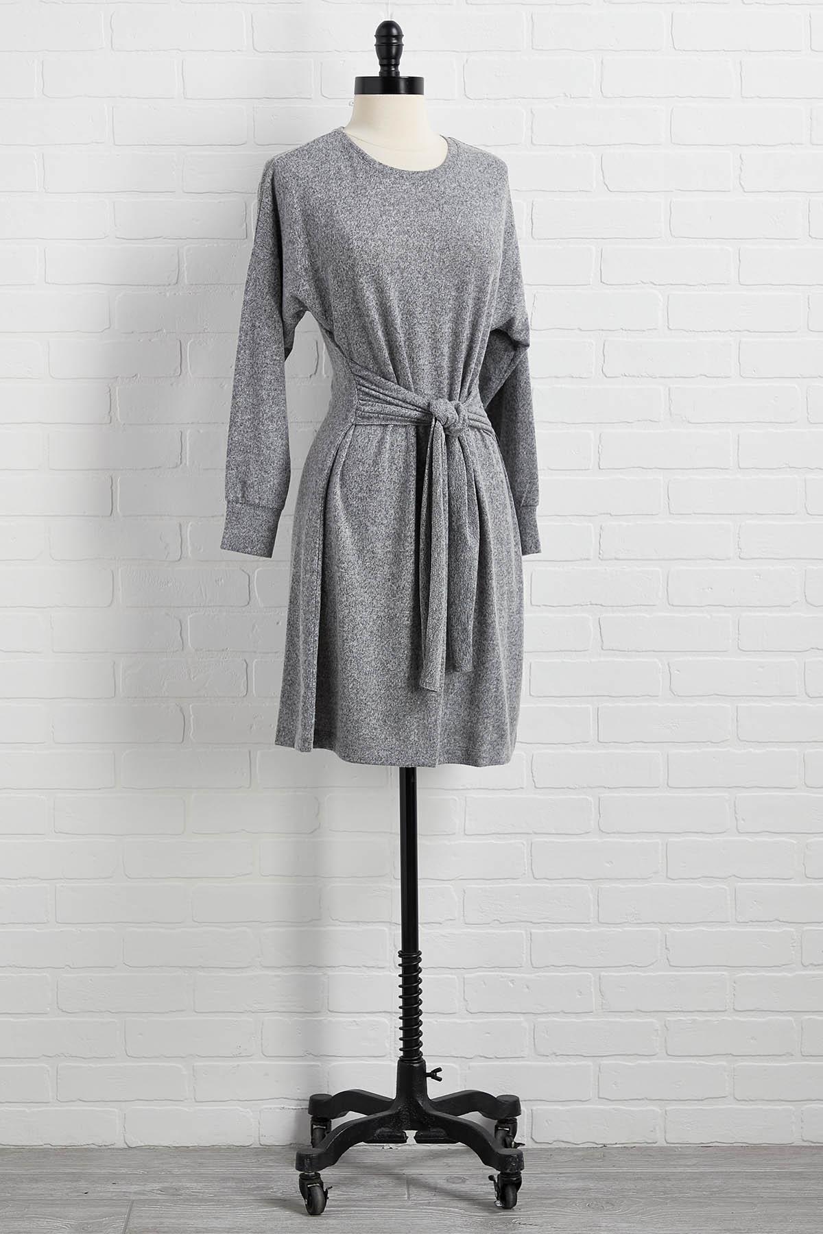 Gray Area Tie Dress