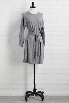 gray area tie dress